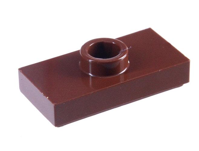 15573 6092590 Platte 1 x 2 mit 1 Noppe - braun