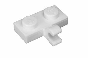 11476 6070712 Platte 1 x 2 mit Clip - weiß