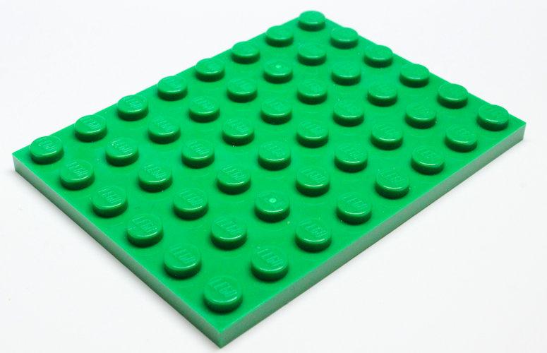 3036 4507311 Bauplatte 6 x 8 - grün