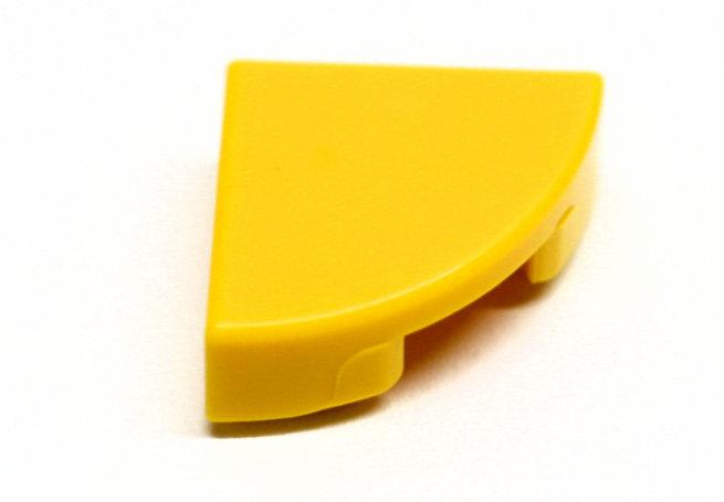 25269 6195183 Fliese Viertelkreis 1 x 1 - gelb
