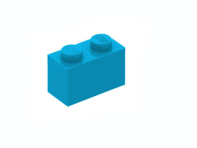 3004 6004943 Baustein 1 x 2 - dunkelazur