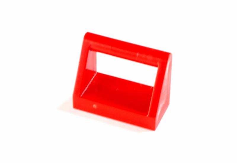 2432 243221 Fliese 1 x 2 mit Halter - rot
