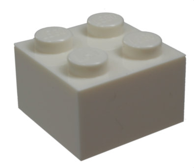3003 300301 Baustein 2 x 2 - weiß