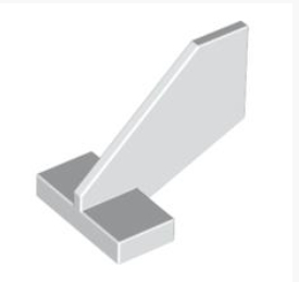 44661 4288960 Heckflügel 2 x 3 x 2 - weiß
