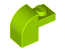 6091 212446 Bogenstein 1 x 1 x 1 1/3 - hellgrün