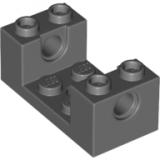 18975 26447 6150297 Stein 2 x 4 x 1 mit Ausschnitt - dunkelgrau