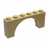 12939 6040250 Bogenstein 1 x 6 x 2 - beige