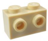 11211 6024495 Stein 1 x 2 mit 2 seitlichen Noppen - beige