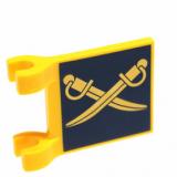 14481 6039812 Flagge 2 x 2 - gelb blau