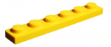 3666 366624 Platte 1 x 6 - gelb