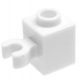 60475 4533763 Stein 1 x 1 mit Clip - weiß