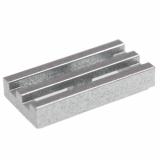 15561 6051422 Gitterfliese 1 x 2 - silbermetallic