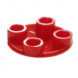 2654 4278275 Platte Gleiter 2 x 2 rund - rot