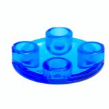 54196 4623595 Platte Gleiter rund 2 x 2 - transparent blau