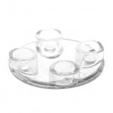 54196 4278412 Platte Gleiter rund 2 x 2 - transparent klar