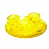 54196 4278415 Platte Gleiter rund 2 x 2 - transparent gelb