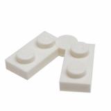 19954 6102776 Scharnierplatte 1 x 2 - 1 x 2 - weiß