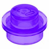 30057 6136405 Platte 1 x 1 rund - transparent lila