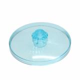 3960 6252265 Fliese 4 x 4 rund Satschüssel - transparent hellblau