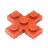 15397 6062215 Kreuzplatte 3 x 3 - dunkelorange