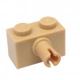 2458 4205105 Stein 1 x 2 mit Pin - beige
