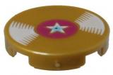 21256 6115442 Platte 2 x 2 rund - perlgold