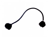 76064 4109714 Schnur Seil 10M mit Endnoppen - schwarz