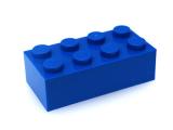 30925 6187275 Heckspoiler 1 x 4 Platte 1 x 2 - dunkelblau