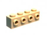 30414 4201062 Stein 1 x 4 mit 4 vorderen Noppen - beige