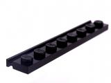 4510 4286009 Platte 1 x 8 mit Führungsschiene - schwarz