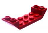 22889 6170389 Schrägstein 2 x 6 45° mit Ausschnitt - rot