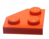26601 6218367 Platte 2 x 2 mit Ecke 45° - orange