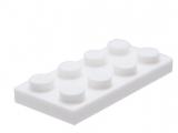 3020 302001 Platte 2 x 4 - weiß