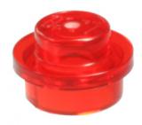 30057 6208450 Platte 1 x 1 rund - transparent rot