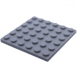 3958 4211474 Bauplatte 6 x 6 - hellgrau