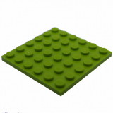 3958 4525858 Bauplatte 6 x 6 - hellgrün