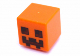 19729 6103099 Figurenkopf - Minecraft - orange