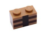 3004 6097024 Stein 1 x 2 - medium nougat (Minecraft)