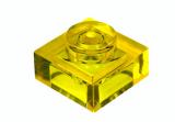 30008 6252045 Platte 1 x 1 - transparent gelb