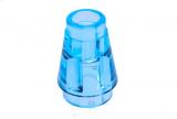 64288 6172241 Kegelstein 1 x 1 - transparent hellblau