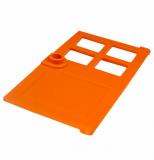 60623 6209675 Tür mit Fensterkreuz 1 x 4 x 6 - orange