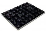 3036 303626 Bauplatte 6 x 8 - schwarz