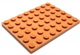 3036 6060856  Bauplatte 6 x 8 - medium nougat