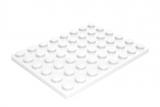 3036 303601 Bauplatte 6 x 8 - weiß