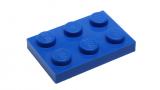 3021 302123 Bauplatte 2 x 3 - blau