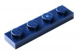 3710 4502089 Bauplatte 1 x 4 - dunkelblau