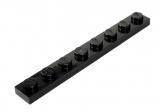 3460 346026 Bauplatte 1 x 8 - schwarz