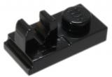 92280 4598528 Bauplatte 1 x 2 mit Clip/Halter - schwarz