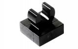 15712 6066102 Fliese 1 x 1 mit Clip/Halter - schwarz