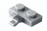 11476 6028812 Bauplatte 1 x 2 mit Clip/Halter - hellgrau
